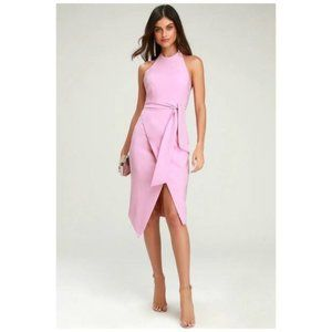 NWT Finders Keepers Mauve Pink Halter Tie Front